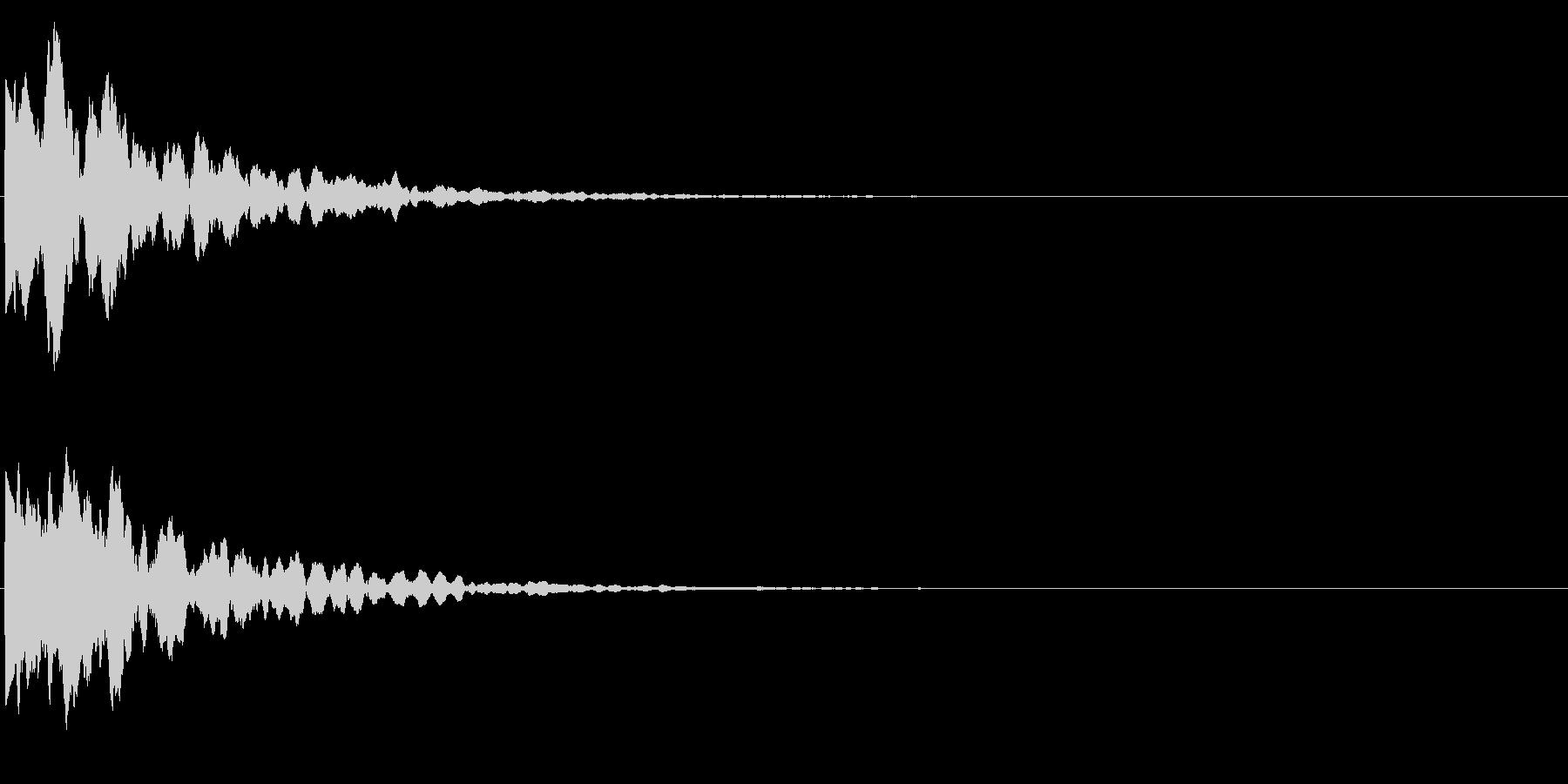 ゲームスタート、決定、ボタン音-055の未再生の波形