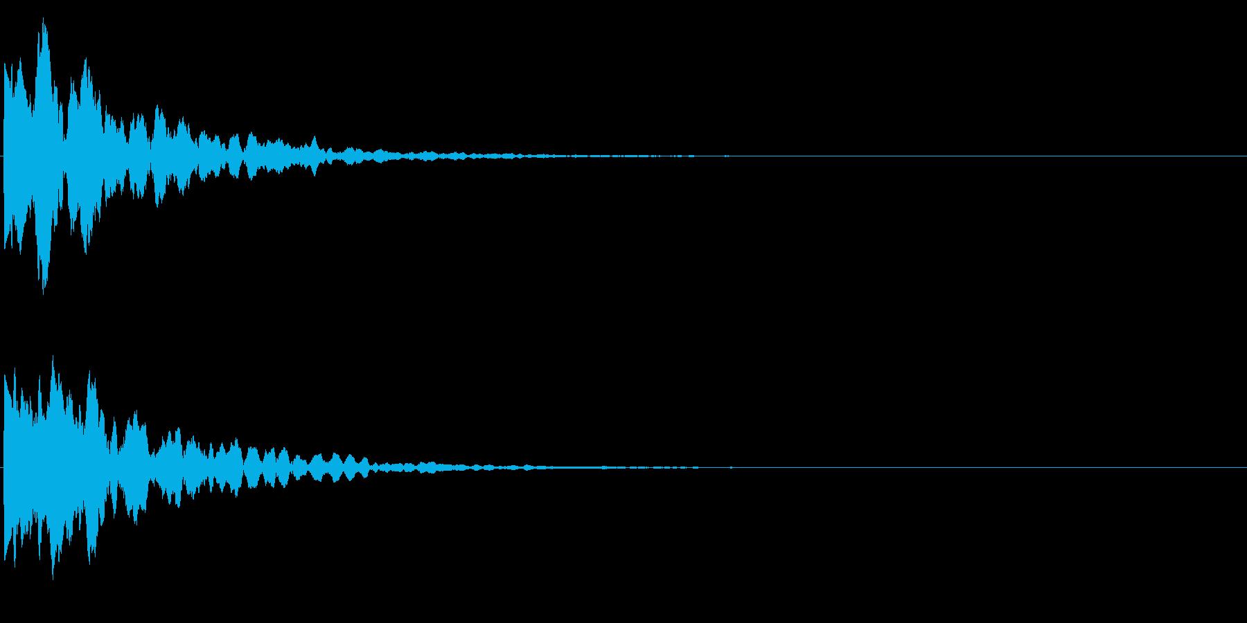 ゲームスタート、決定、ボタン音-055の再生済みの波形