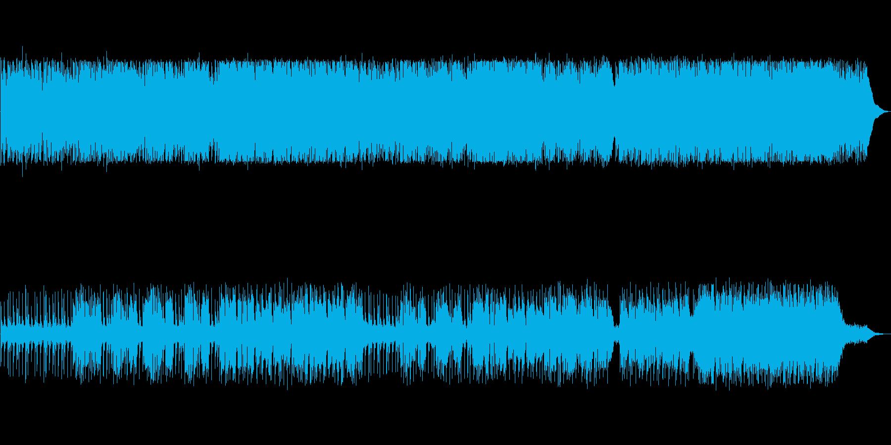 和やかで柔らかい英語詞の曲の再生済みの波形