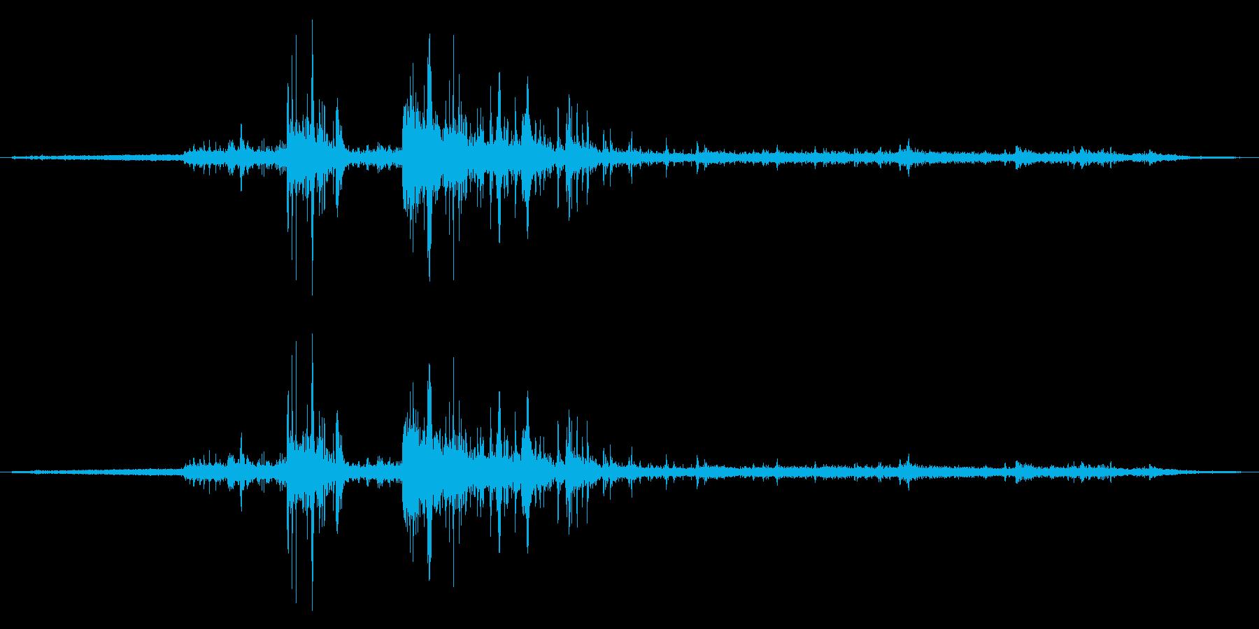 夏場の雷鳴音 (蝉の声と鳥の声入り)の再生済みの波形