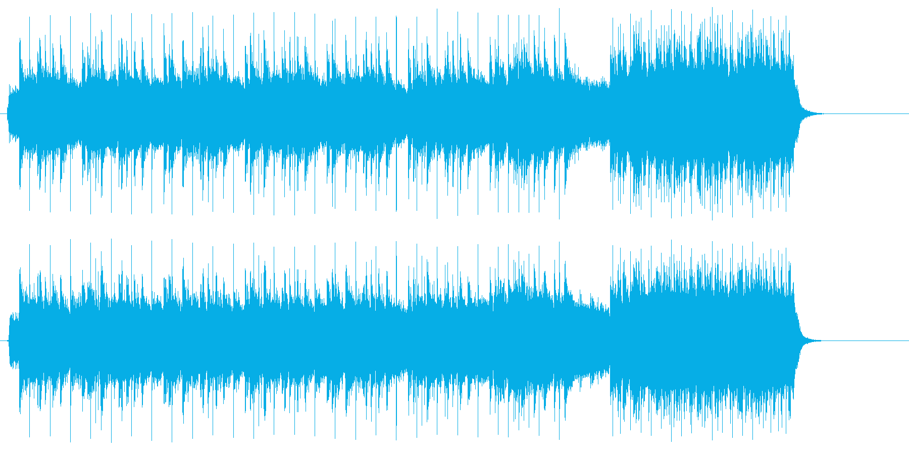 エネルギッシュな唸るギターのハードロックの再生済みの波形