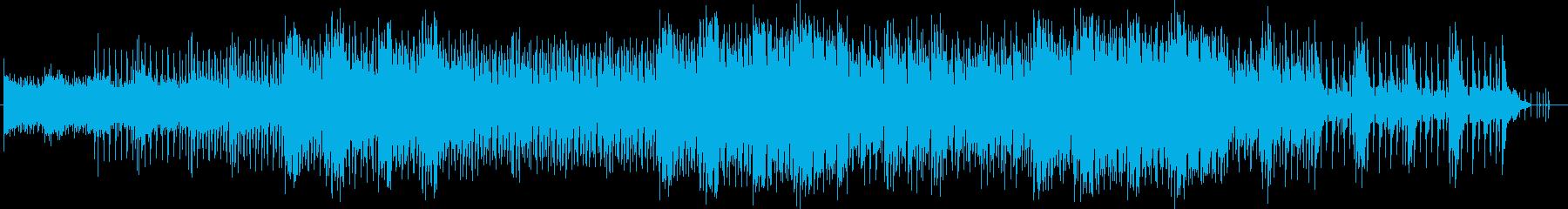 穏やかで煌びやかなシンセサウンドの再生済みの波形