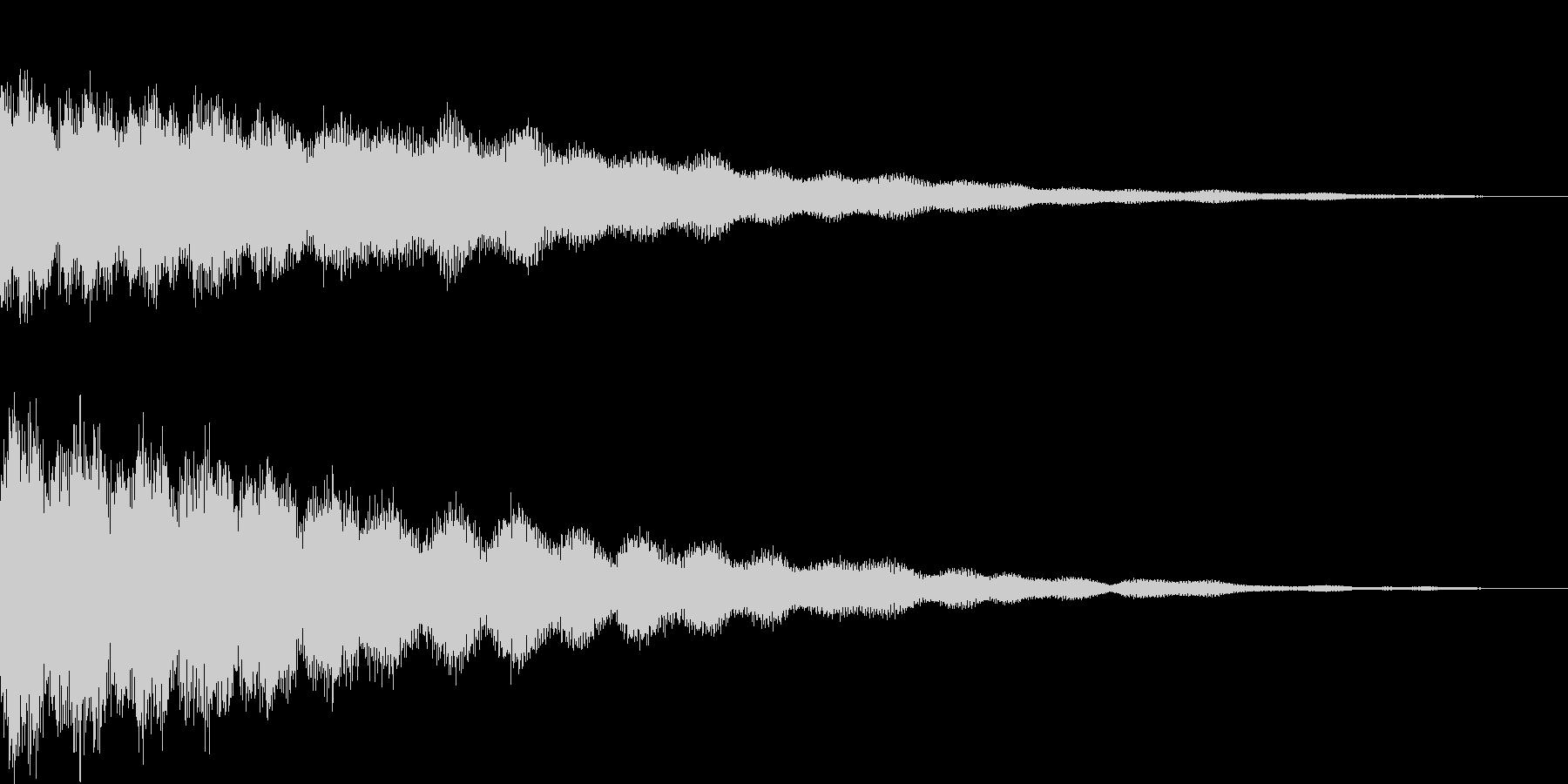 【ゲーム用SE】キーン(金属音)の未再生の波形