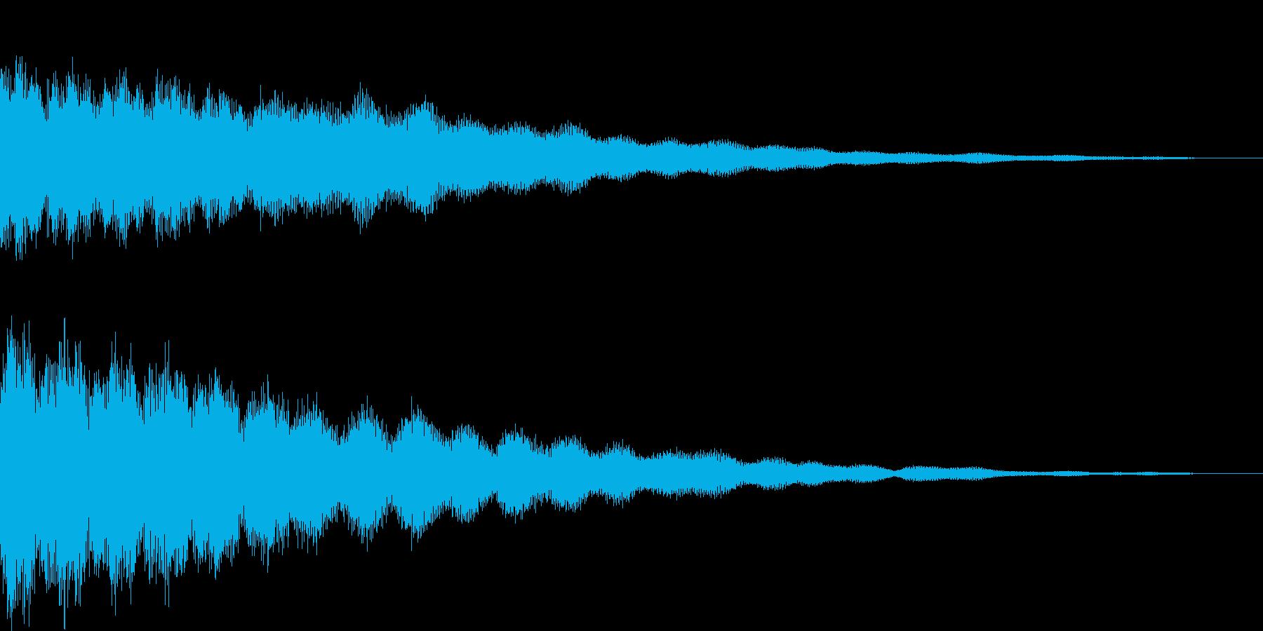 【ゲーム用SE】キーン(金属音)の再生済みの波形