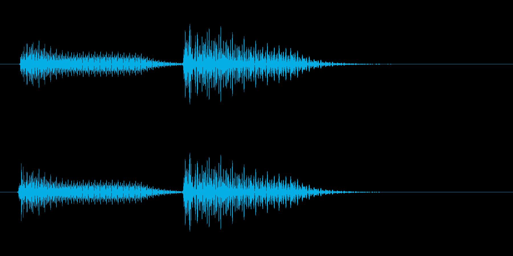 ピド(ゲームでの洗濯音などに)の再生済みの波形