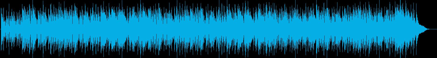 ボサノバ風の曲の再生済みの波形