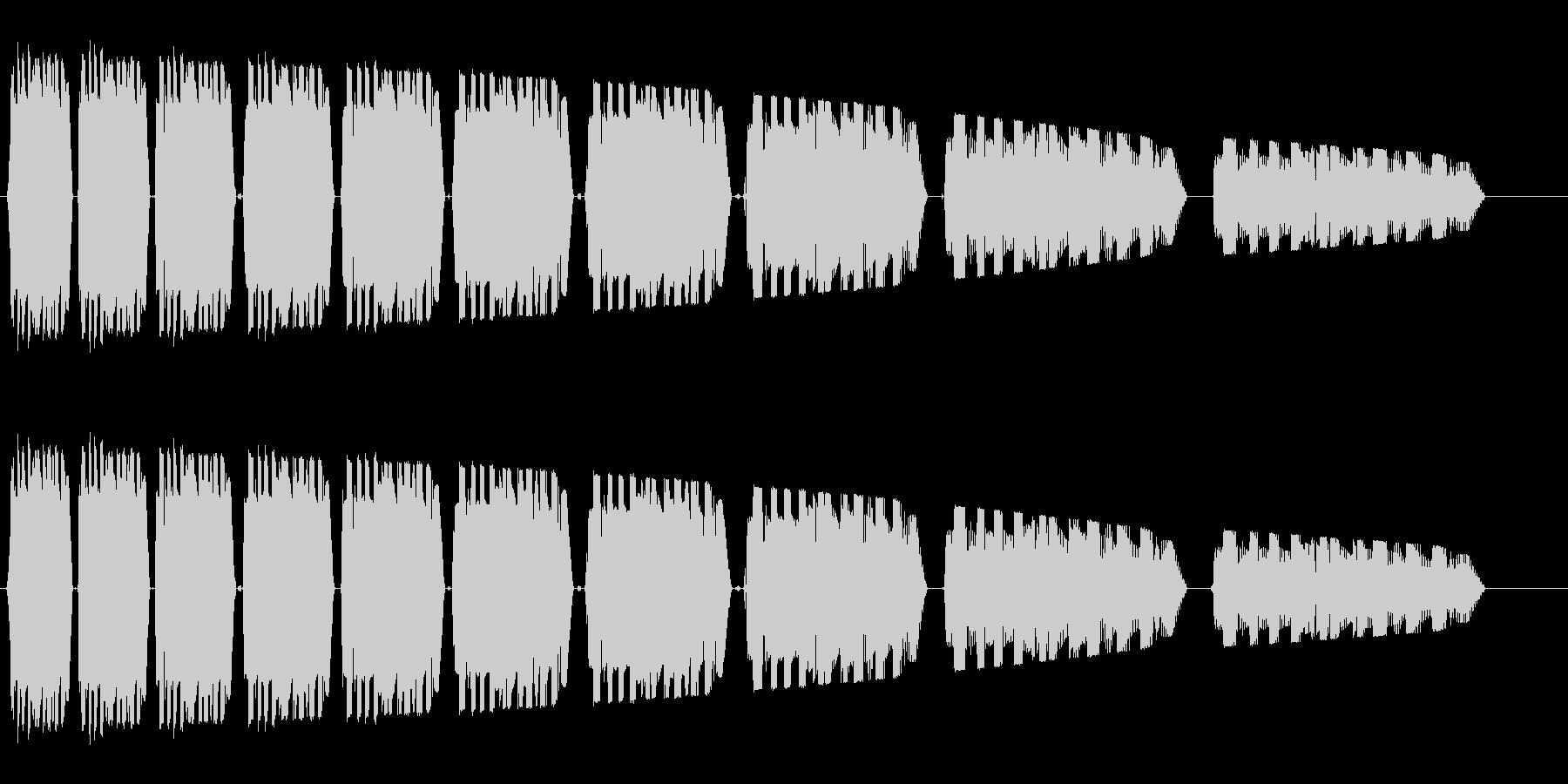 ビヤヤヤーゥヤーゥ・・・(早めの失敗音)の未再生の波形