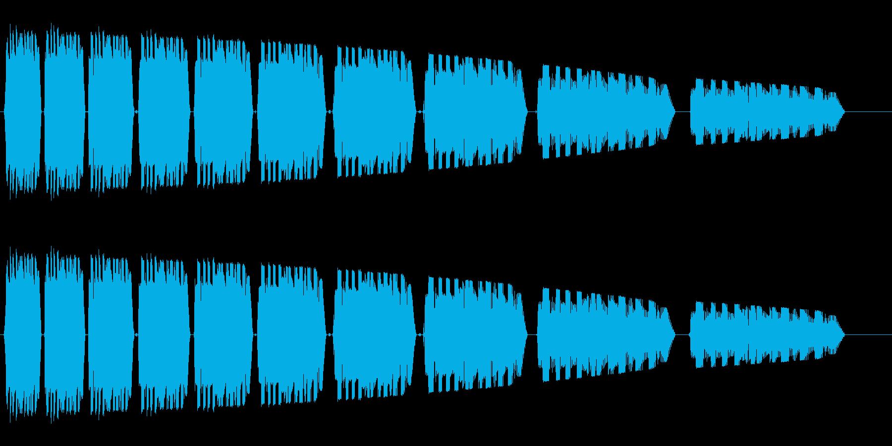ビヤヤヤーゥヤーゥ・・・(早めの失敗音)の再生済みの波形