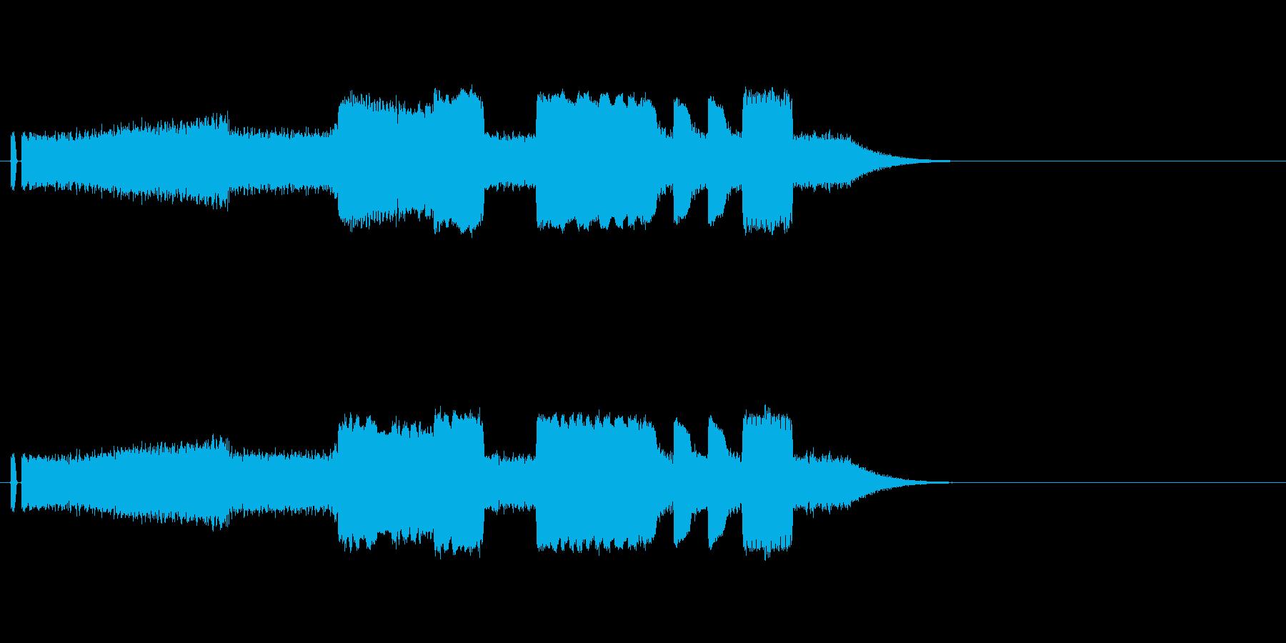 機械音の再生済みの波形