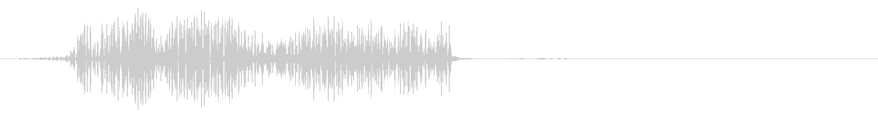 クリック音(ピュッ)の未再生の波形