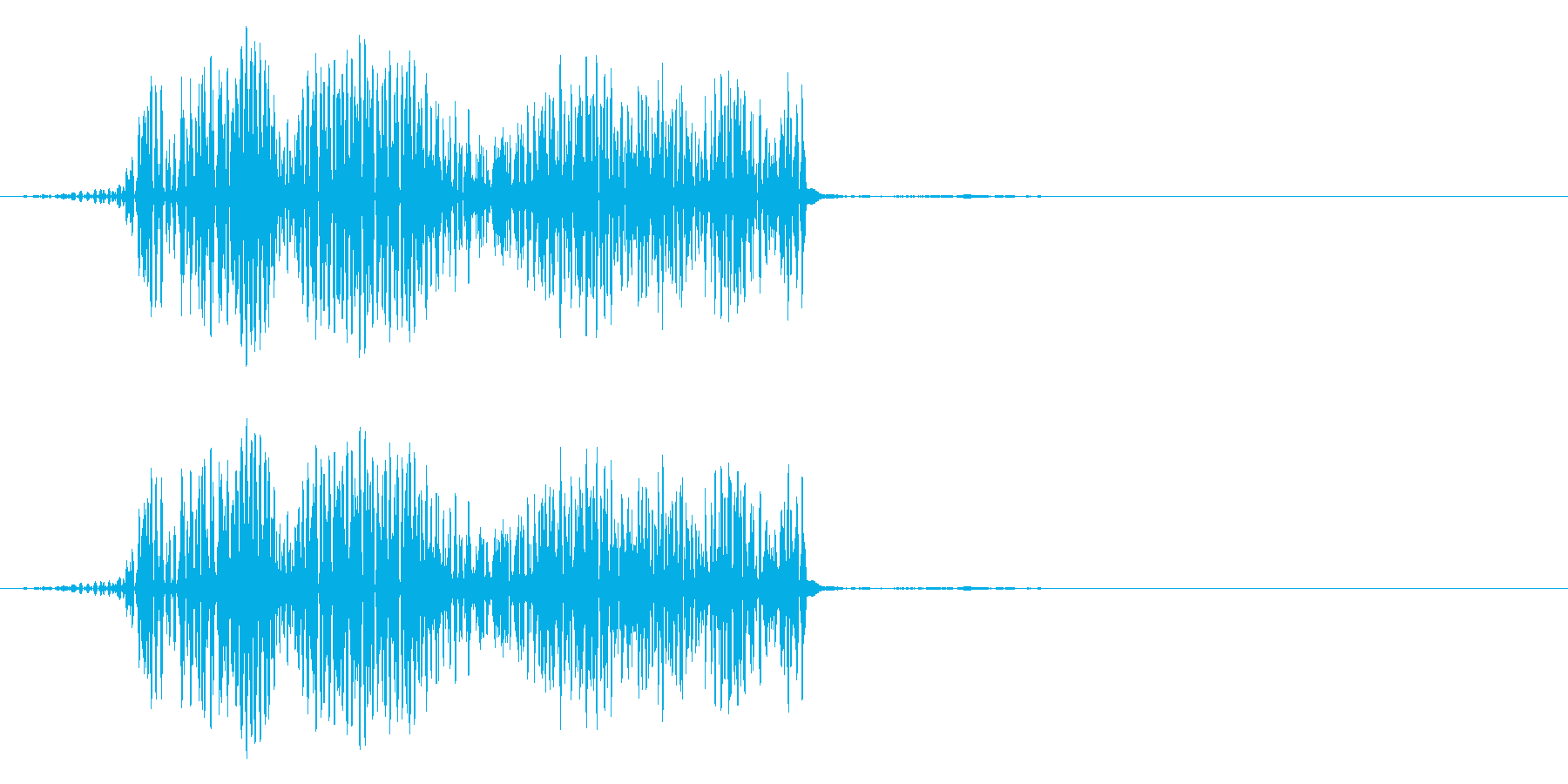 クリック音(ピュッ)の再生済みの波形