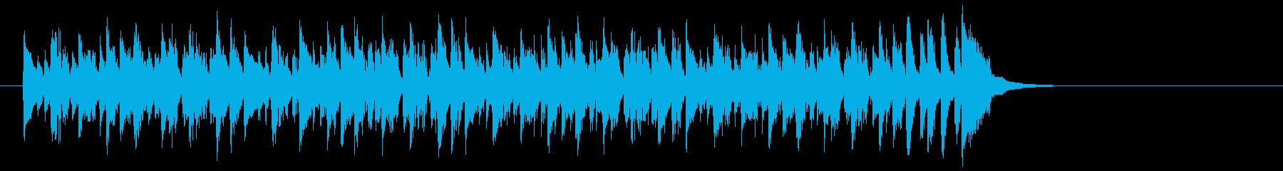 ワールド系サンバ風BGM(イントロ)の再生済みの波形