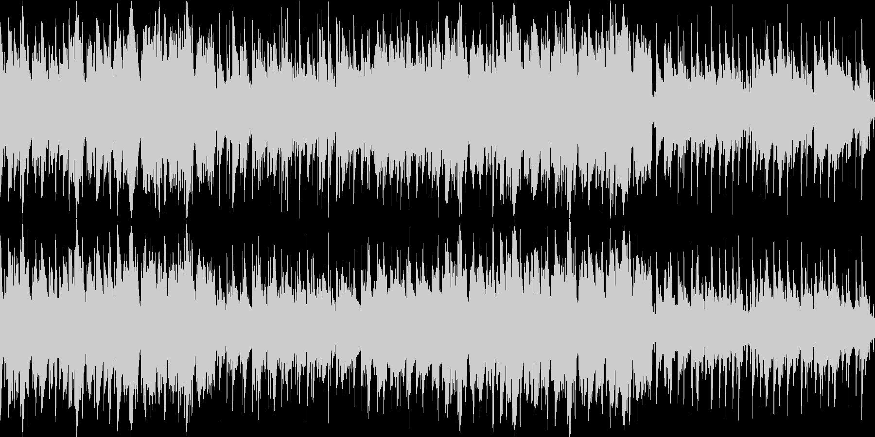 北欧の街並み・爽やかな民族音楽・ループ版の未再生の波形