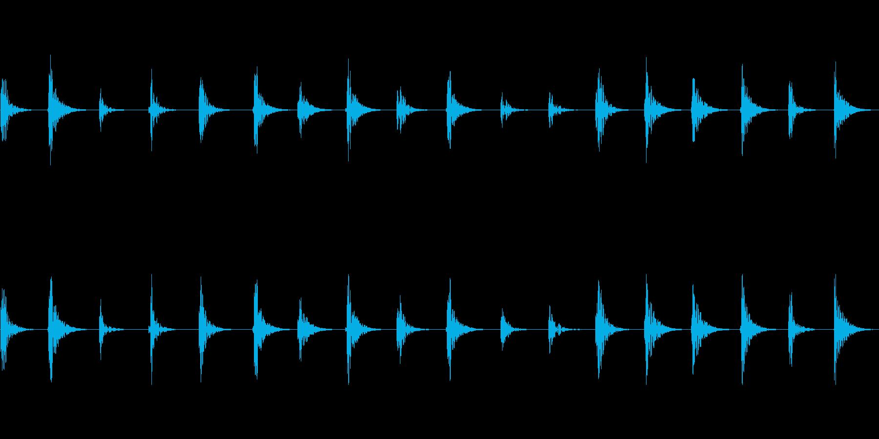 【足音01-1L】の再生済みの波形