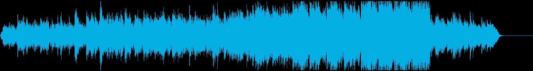 ピアノ主体のやさしく映像的に盛り上がる曲の再生済みの波形