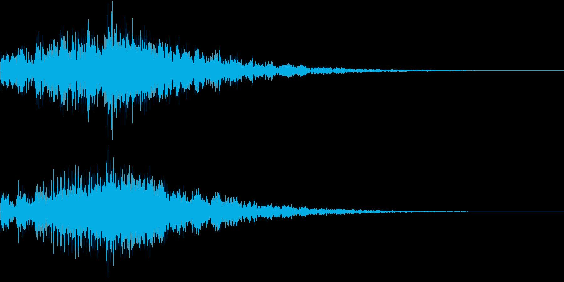 キラキラしたシンセベルのジングルの再生済みの波形