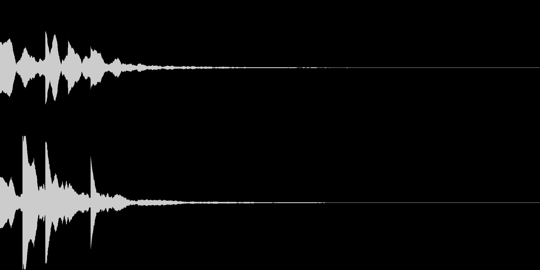 決定ボタン001 シンセサイザーの未再生の波形