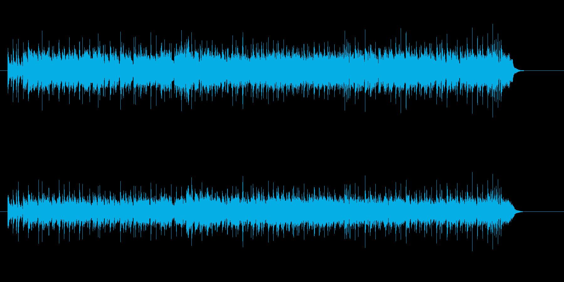 コミカル・タッチなアニメ・ソング風の再生済みの波形