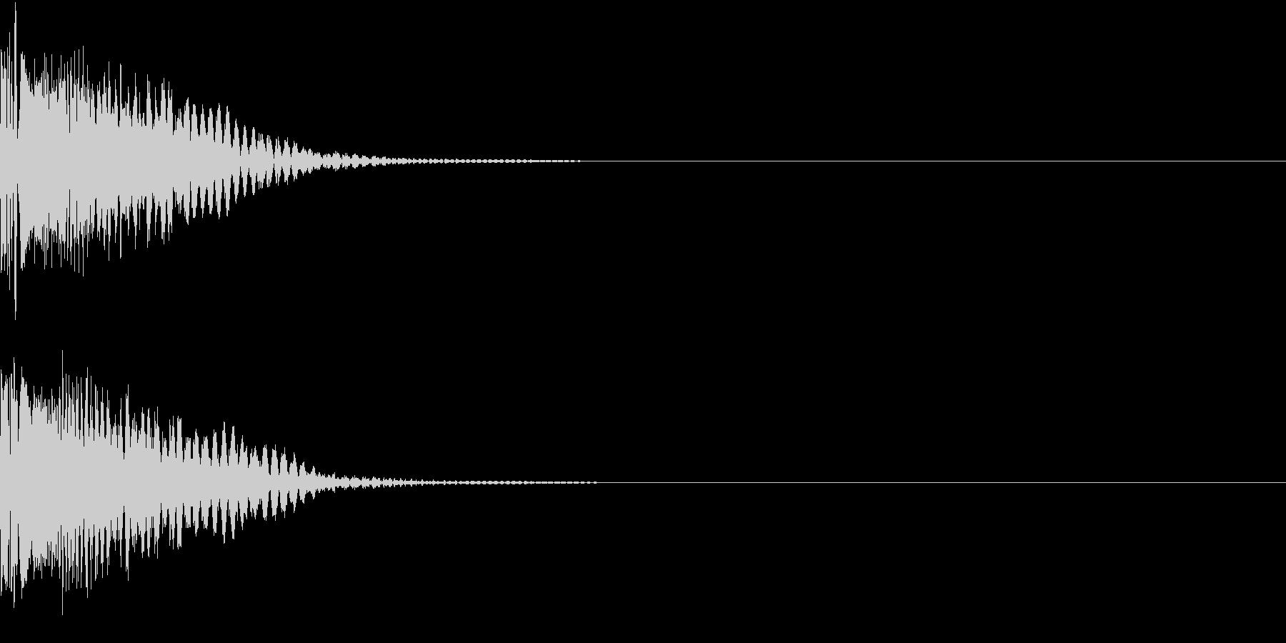LaserBeam レーザービーム攻撃音の未再生の波形