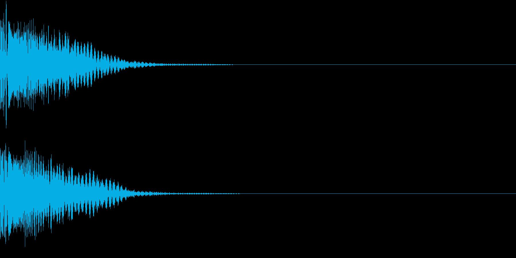 LaserBeam レーザービーム攻撃音の再生済みの波形