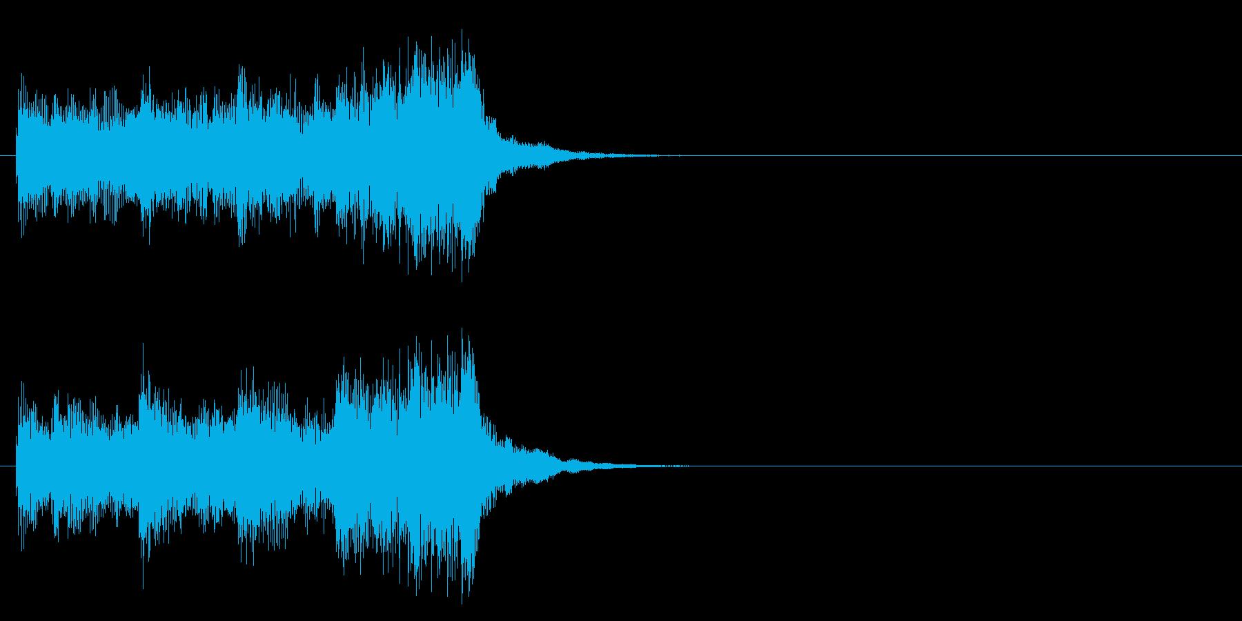 緊張 不安 サスペンス 追跡 重苦しいの再生済みの波形
