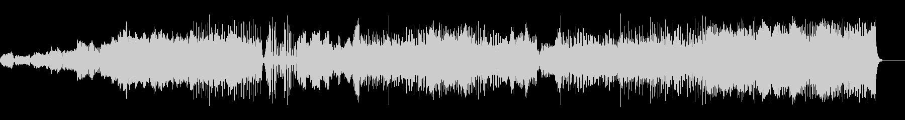 リズミカルなオーケストラの未再生の波形