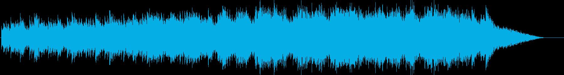 ループする優しいメロディと海の音の再生済みの波形