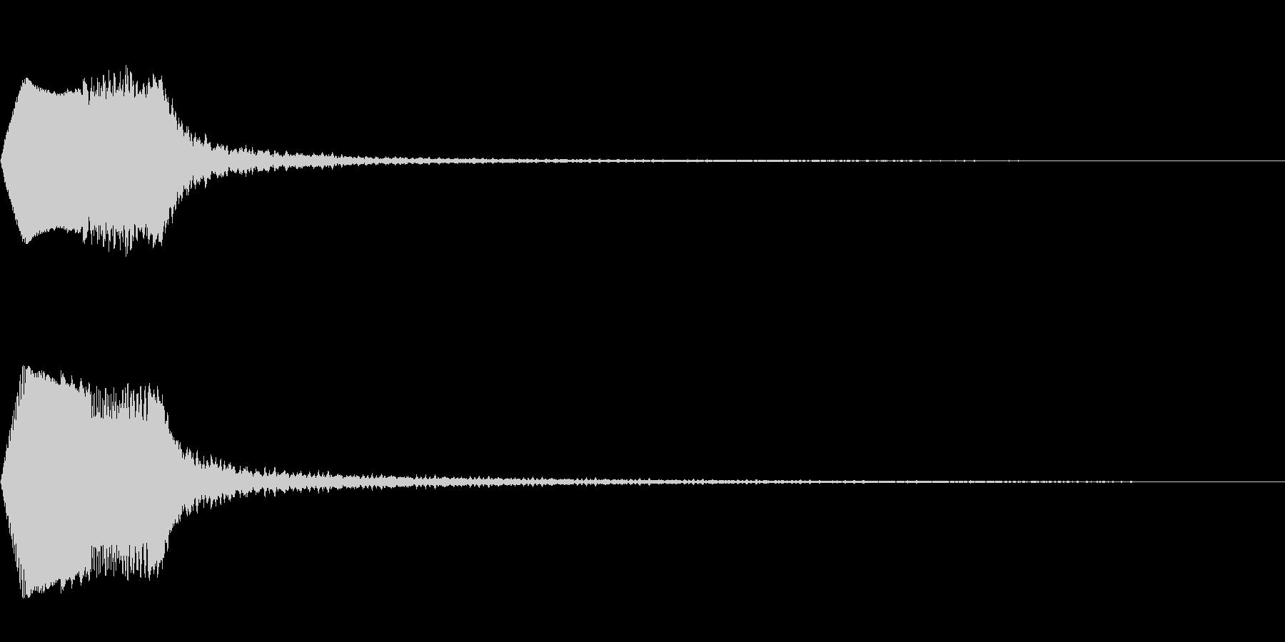 ひゅうん ↓ 下降音 の未再生の波形