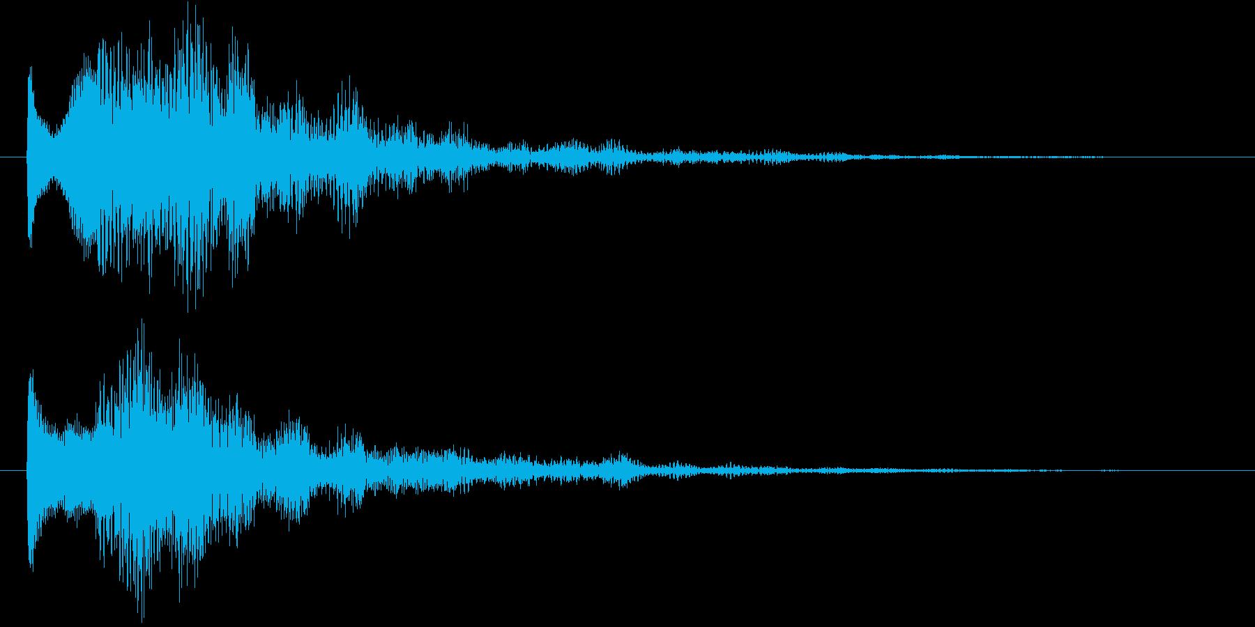 サウンドロゴ(華やか、残響)の再生済みの波形