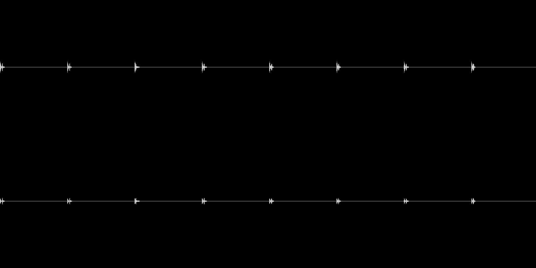 [時計 秒針]の未再生の波形