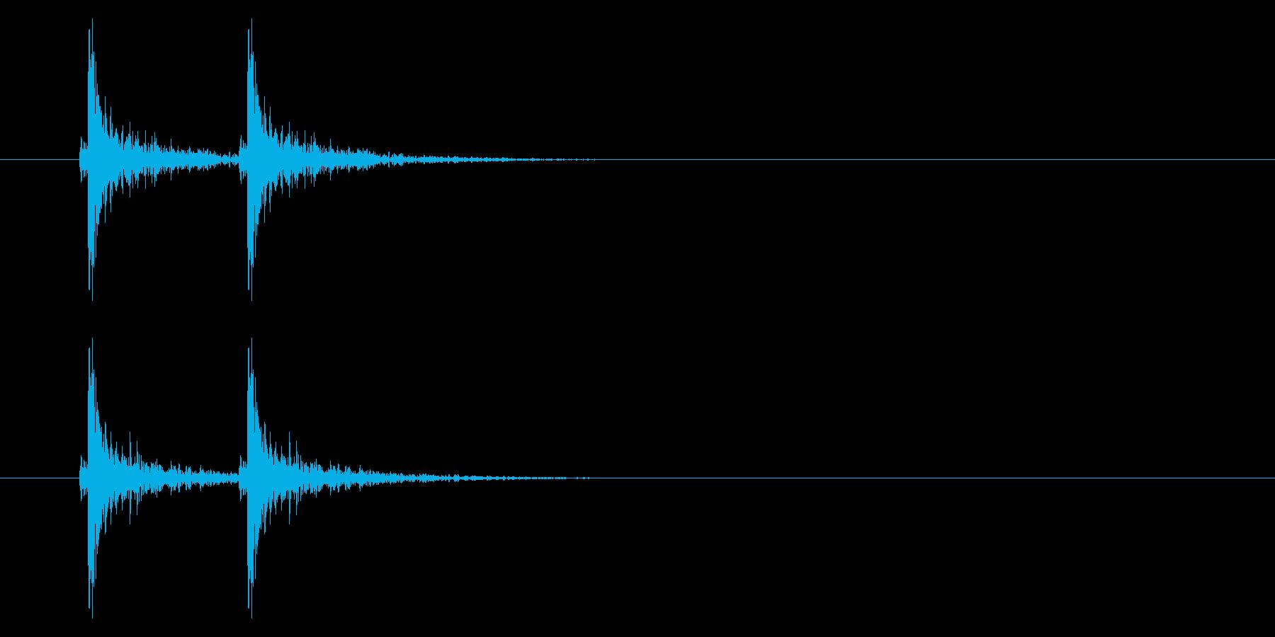トントン!ドアのノック音の再生済みの波形