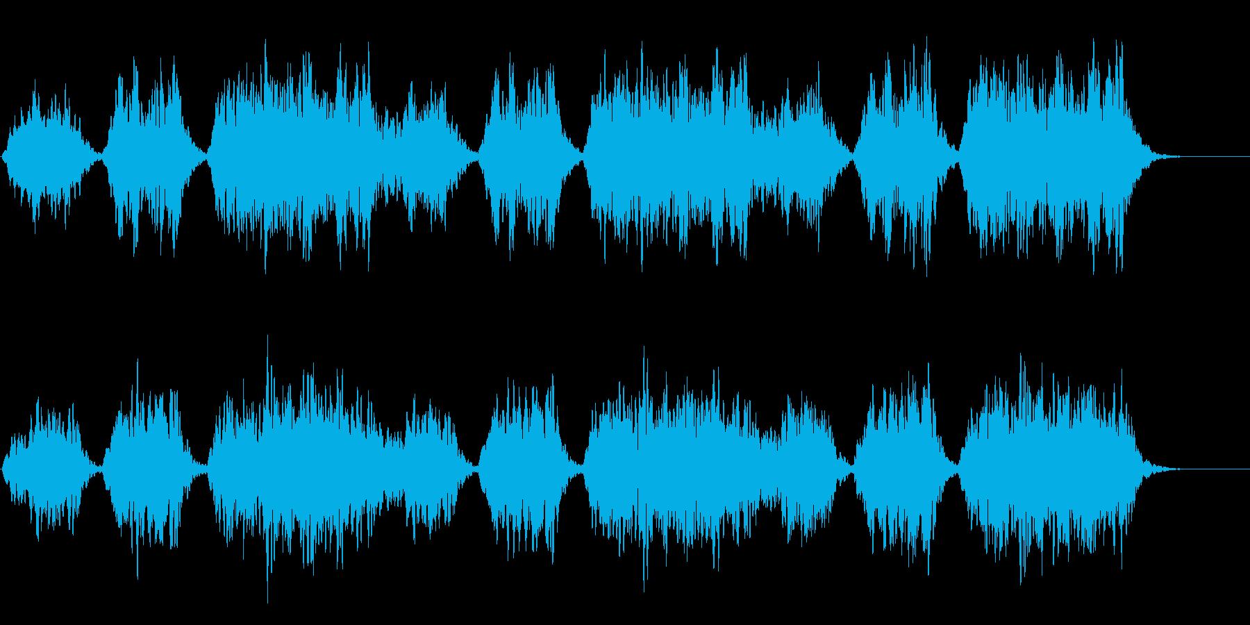 映像向けのパッド系BGMの再生済みの波形