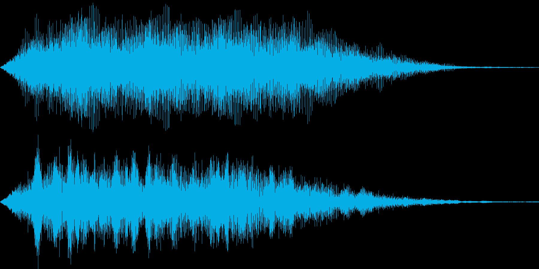 暗黒のオーラ(闇の力が辺りを包む)の再生済みの波形
