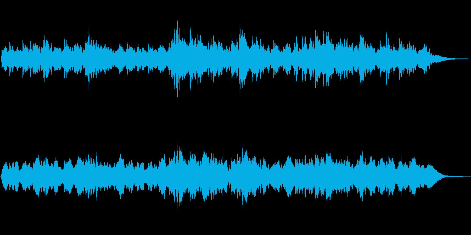 シンセパッドの神秘的な雰囲気のジングルの再生済みの波形