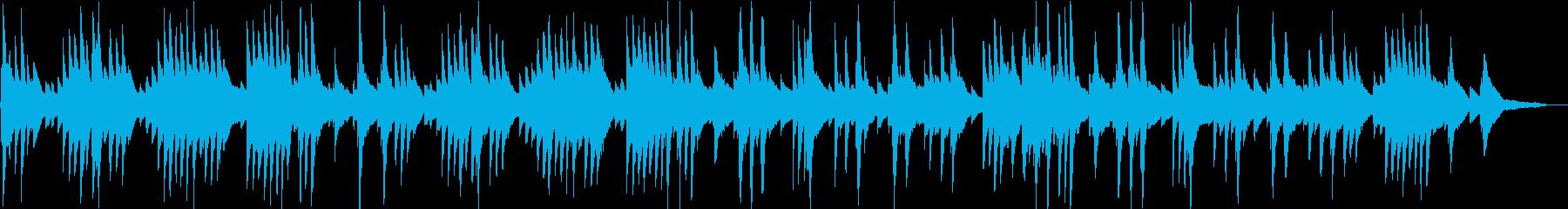 爽やかな気分のリラックスピアノBGMの再生済みの波形