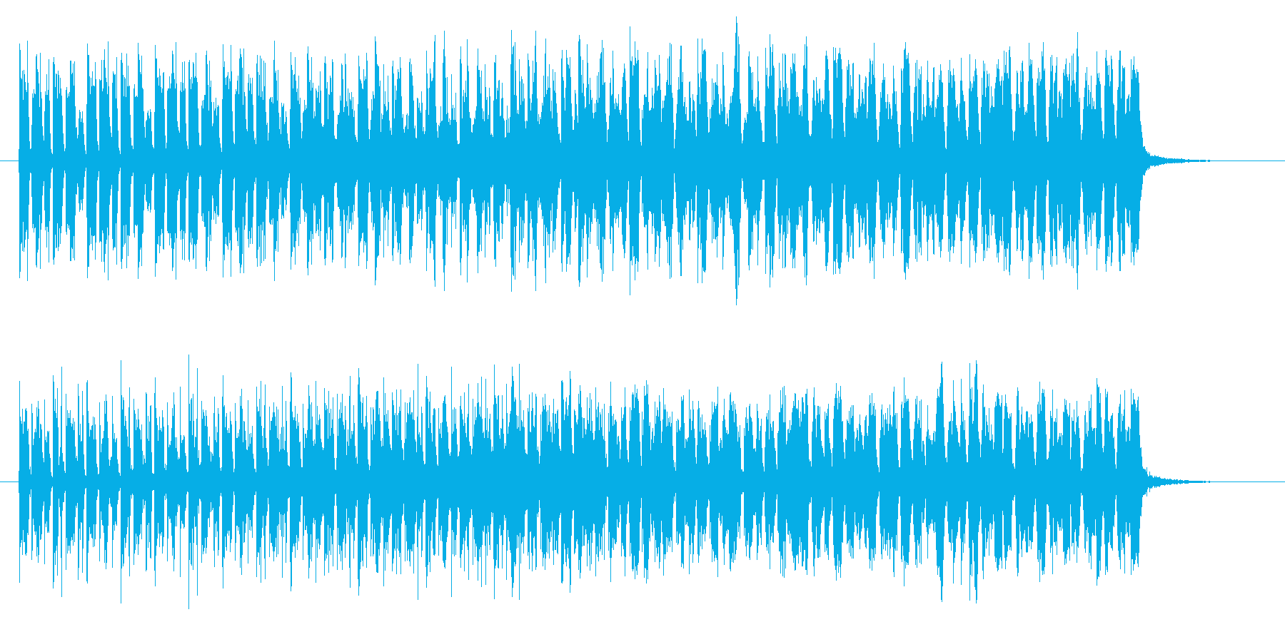 躍動感と不思議なテクノポップジングルの再生済みの波形