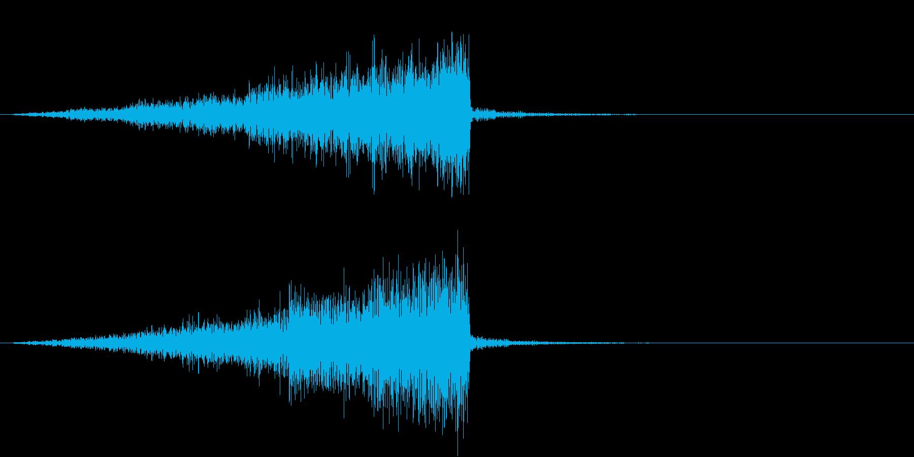 差し迫るオーケストラによる緊張の再生済みの波形