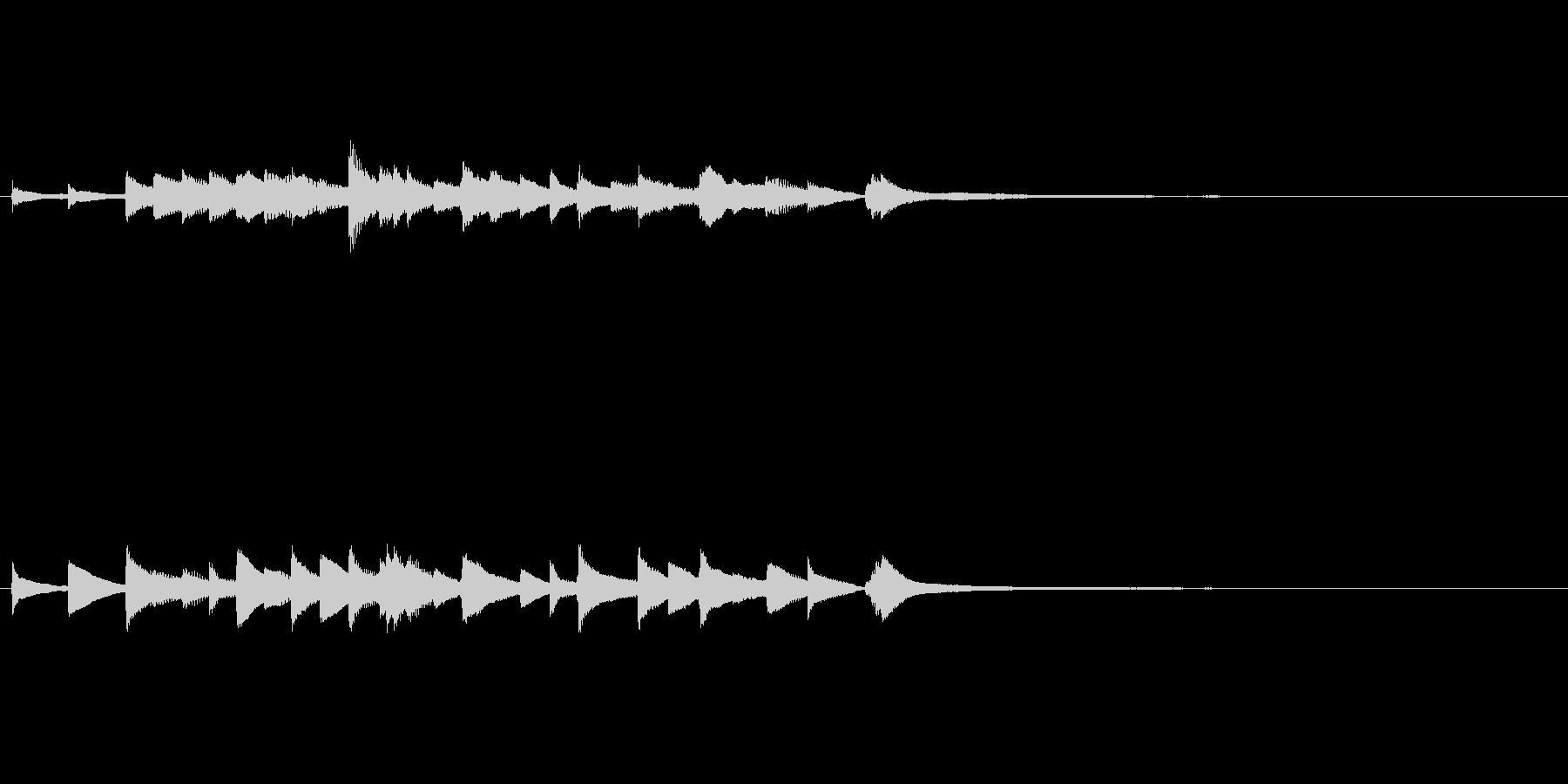 和風ピアノ 場面転換にの未再生の波形