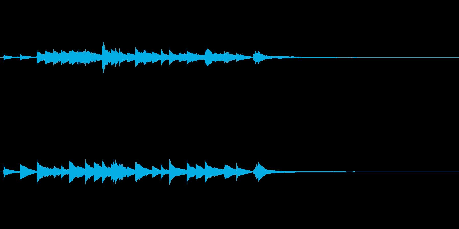 和風ピアノ 場面転換にの再生済みの波形