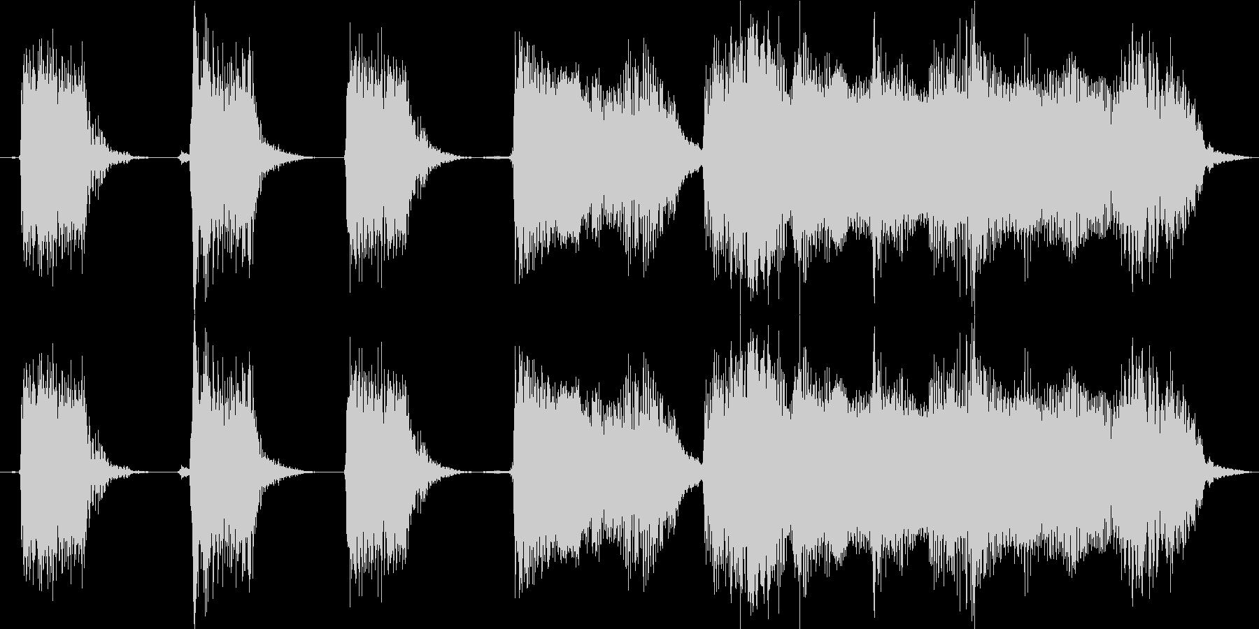【エレキギター・リフ】60年代ロック風の未再生の波形