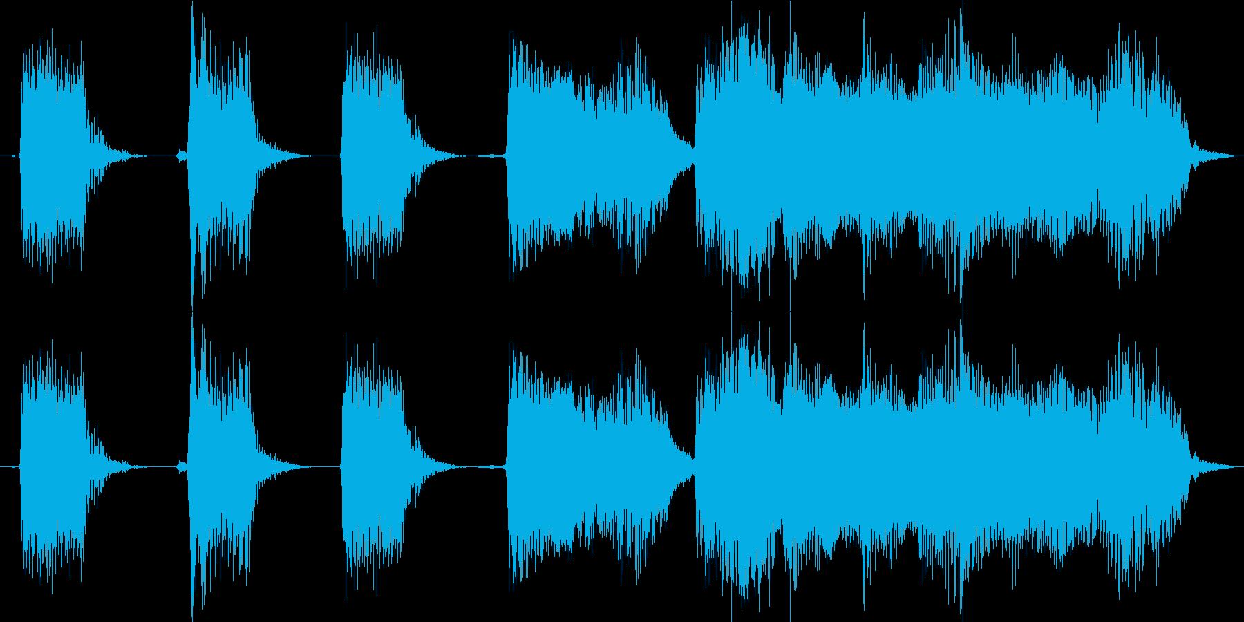 【エレキギター・リフ】60年代ロック風の再生済みの波形