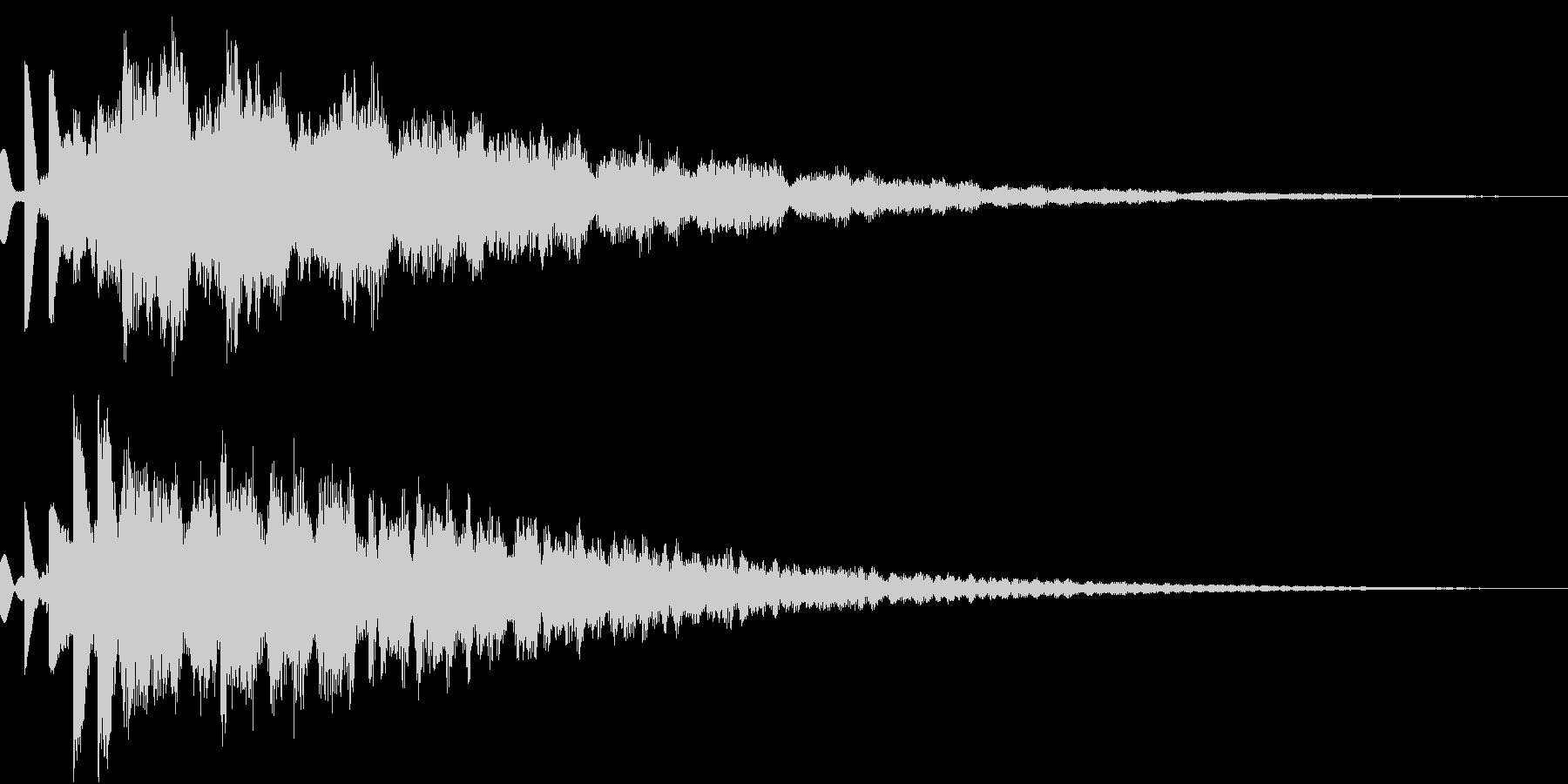 コスミックなSF向けピポパポ音(エコー)の未再生の波形
