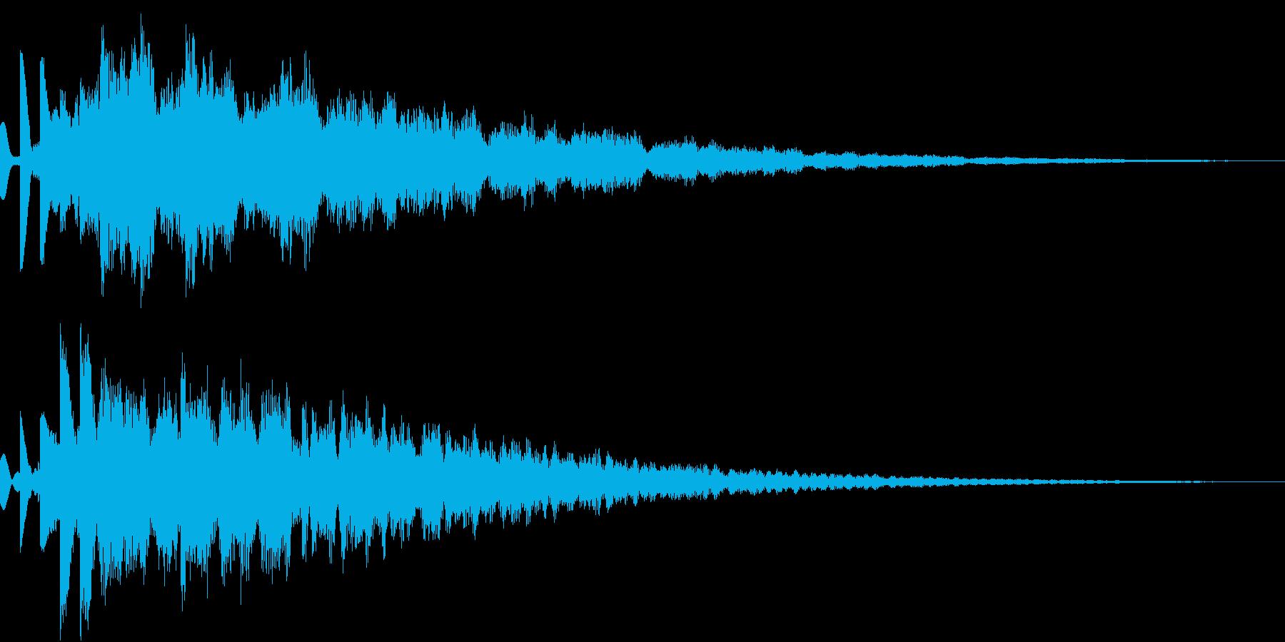 コスミックなSF向けピポパポ音(エコー)の再生済みの波形