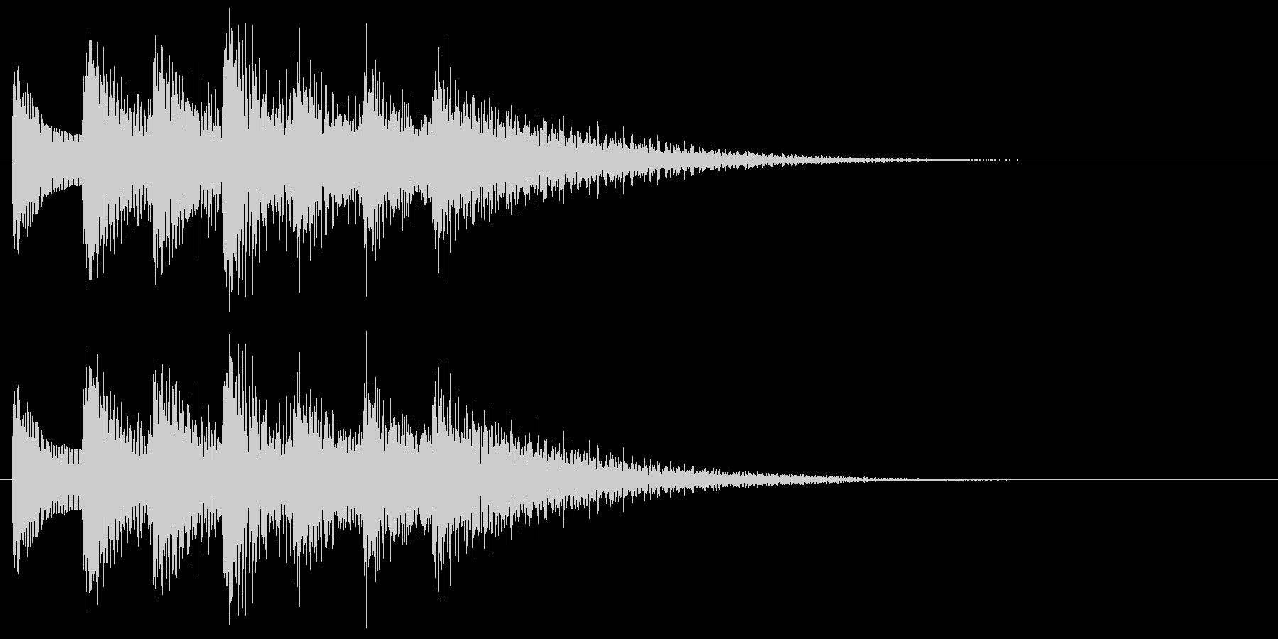 和風効果音 琴 クール アクセント Bの未再生の波形