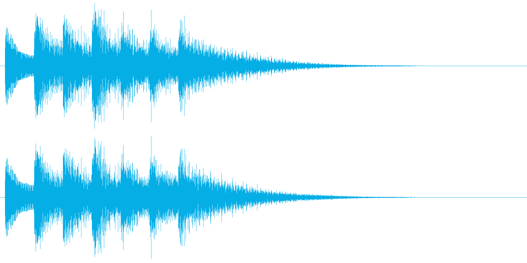 和風効果音 琴 クール アクセント Bの再生済みの波形