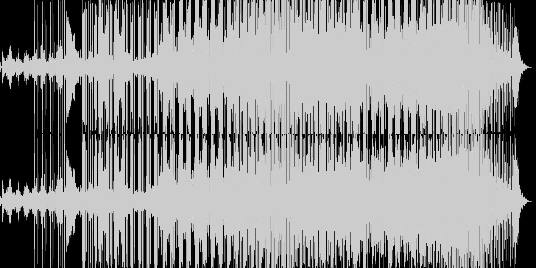 肉声を組み込んだ重厚感のあるヒップホップの未再生の波形