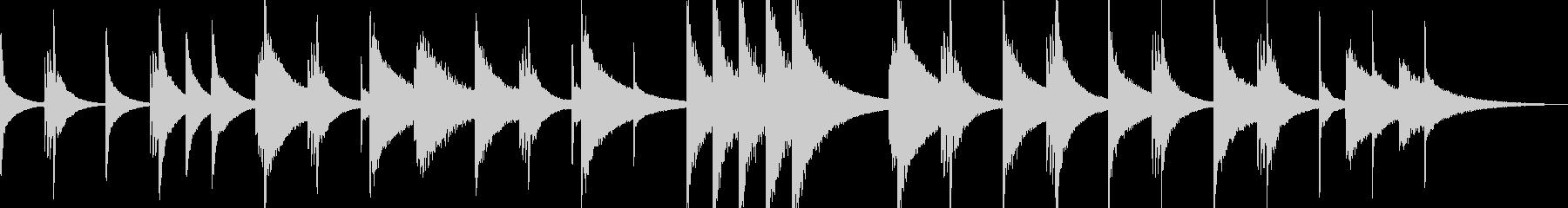 不穏、たくらみ、犯行【不気味なピアノ曲】の未再生の波形