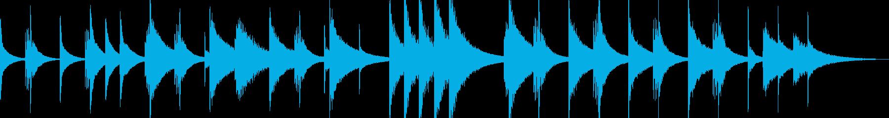 不穏、たくらみ、犯行【不気味なピアノ曲】の再生済みの波形