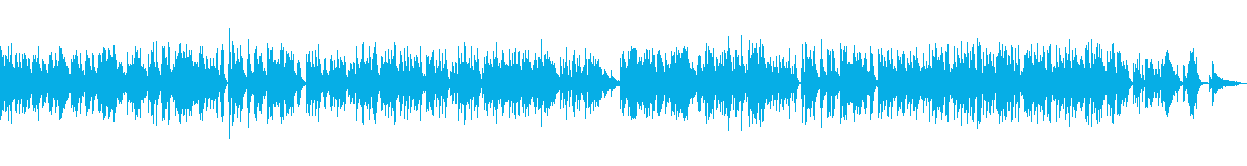 ピアノソロ切ない系バラードの再生済みの波形