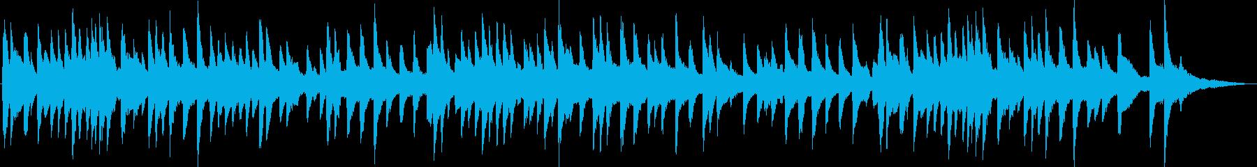 ジャズ風の明るいラウンジピアノの再生済みの波形